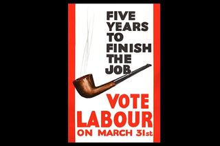 Labour Party Poster - Five Years to Finish the Job 1966 Election